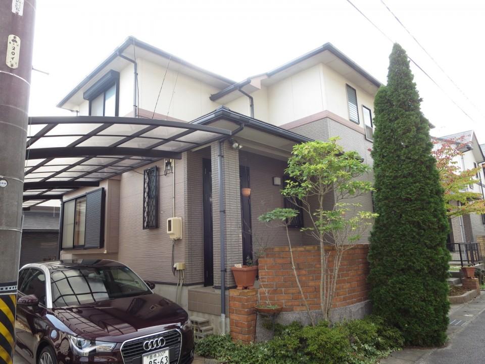 豊川市長沢町で外壁塗装、屋根葺き替え [before]